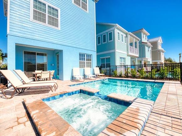 Margaritaville Resort villa with pool and hut tub